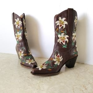 Sam Edelman Limited Edition Floral Western Boots